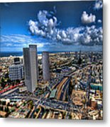 Tel Aviv Center Skyline Metal Print