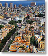 Tel Aviv Eagle Eye View Metal Print