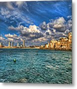 Tel Aviv Jaffa Shoreline Metal Print