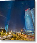 Tel Aviv Nights Metal Print