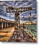 Tel Aviv Port At Winter Time Metal Print