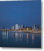 Tel Aviv The Blue Hour Metal Print by Ron Shoshani