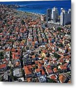 Tel Aviv - The First Neighboorhoods Metal Print