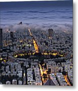 Tel Aviv Under Fog  Metal Print