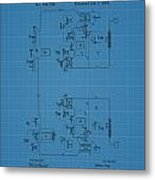 Telegraph Blueprint Patent Metal Print