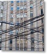 Telephone And Electrical Lines  Metal Print