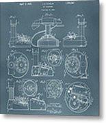 Telephone Patent Metal Print