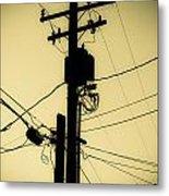 Telephone Pole 2 Metal Print