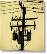 Telephone Pole 3 Metal Print