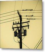 Telephone Pole 4 Metal Print