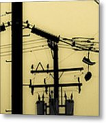 Telephone Pole And Sneakers 5 Metal Print by Scott Campbell