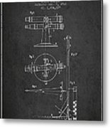 Telescope Telemeter Patent From 1916 - Charcoal Metal Print