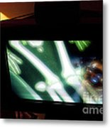 Television And Light  Metal Print