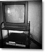 Television And Recorder Metal Print