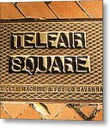 Telfair Square In Savannah Metal Print