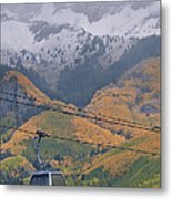 Telluride Winter Over Fall Metal Print