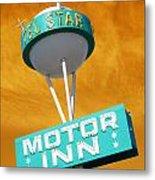 Telstar Motor Inn - Orange Metal Print