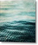 Tempest Ocean Landscape In Shades Of Teal Metal Print