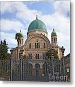 Tempio Maggiore  The Great Synagogue Of Florence Metal Print