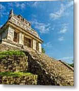 Temple And Blue Sky Metal Print