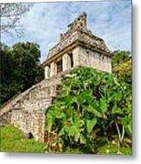 Temple And Foliage Metal Print