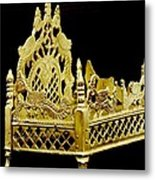 Temple Art - Brass Handicraft Metal Print