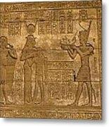 Temple At Denderah Egypt Metal Print by Brenda Kean
