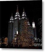 Temple Christmas Lights Metal Print