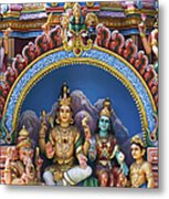 Temple Deity Statues India Metal Print by Tim Gainey