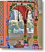 Colorful Temple Entrance - Omkareshwar India Metal Print