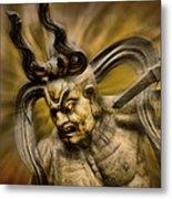 Temple Guardian Metal Print by Karen Walzer