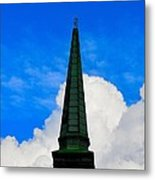 Temple In The Clouds Metal Print