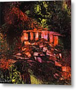 Temple In The Woods Metal Print