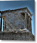 Temple Of Athena Nike Metal Print by James R Martin