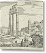 Temple Of Castor And Pollux And The Basilica Of Constantine Metal Print
