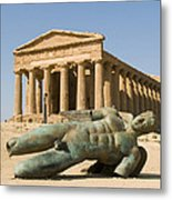 Temple Of Concord And Icarus Fallen Metal Print by Rachel Down
