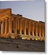 Temple Of Concordia In The Valley Of Metal Print