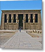 Temple Of Hathor Near Dendera-egypt Metal Print by Ruth Hager