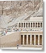 Temple Of Hatsepsut In Egypt Metal Print