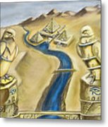 Temple Of Horus Two Out Of Three Metal Print