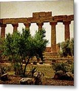 Temple Of Juno Lacinia In Agrigento Metal Print