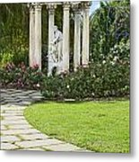 Temple Of Love Statue At The Rose Garden Of The Huntington. Metal Print