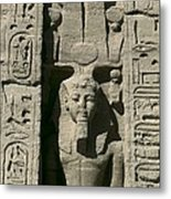 Temple Of Nefertari Dedicated Metal Print by Everett