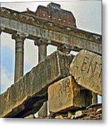 Temple Of Saturn In The Roman Forum Metal Print