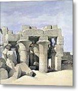 Temple On Nile Metal Print