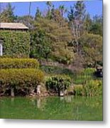 Temple On The Lake Metal Print
