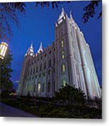 Temple Perspective Metal Print