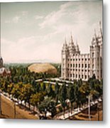 Temple Square Salt Lake City 1899 Metal Print