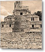 Templo De Edzna Antiguo Metal Print
