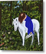 Temptress In The Forest Metal Print